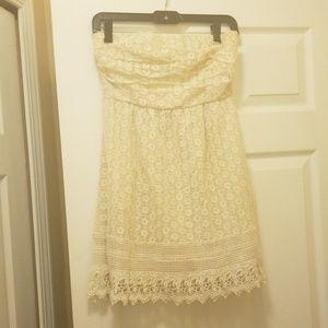 Off white strapless dress